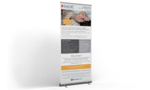 SAGIC roll-up banner design