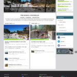 The Hiking Chronicles website design