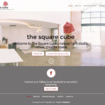 The Square Cube Photography Studio website design