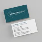 Momentum Factor Investing Business Card Design